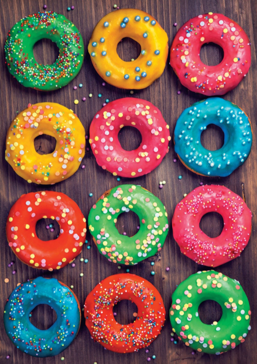 Colorful Donuts Food and Drink Jigsaw Puzzle