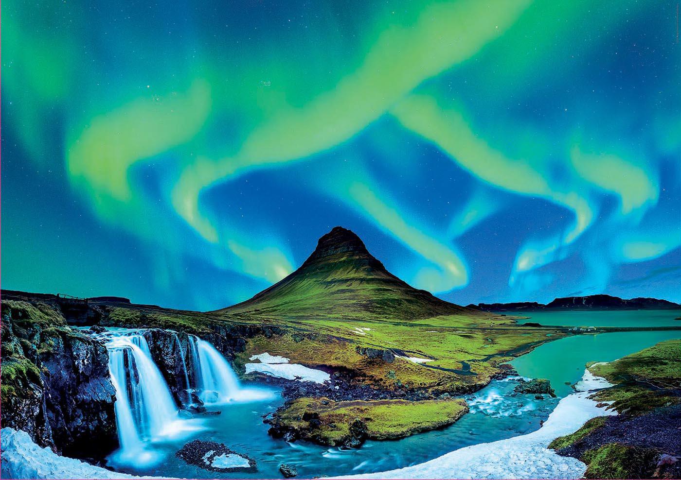 Aurora Borealis, Iceland Landscape Jigsaw Puzzle