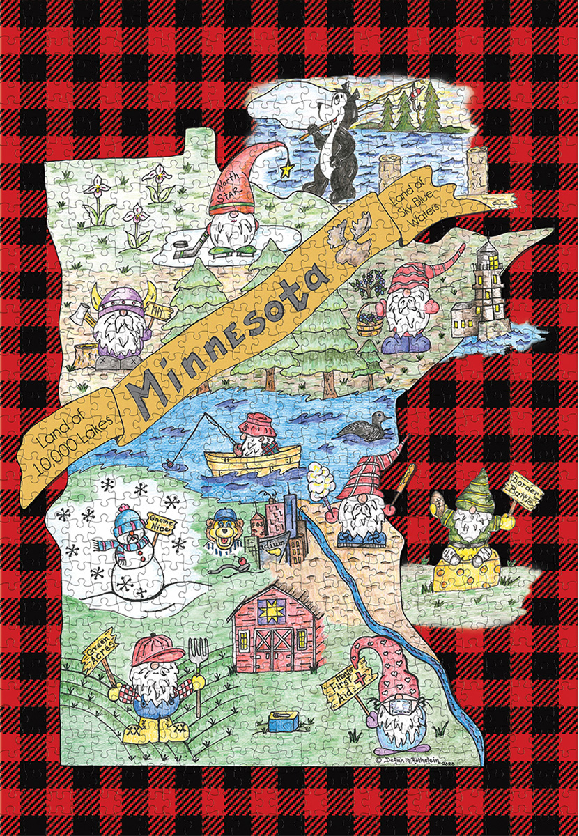Gnome Sweet Gnome-Minnesota Jigsaw Puzzle