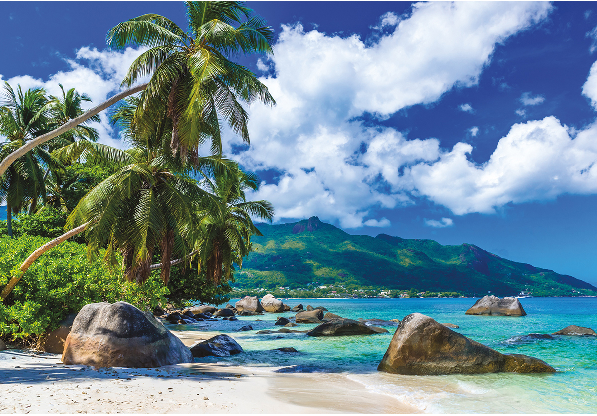 Tropical Paradise Beach Jigsaw Puzzle