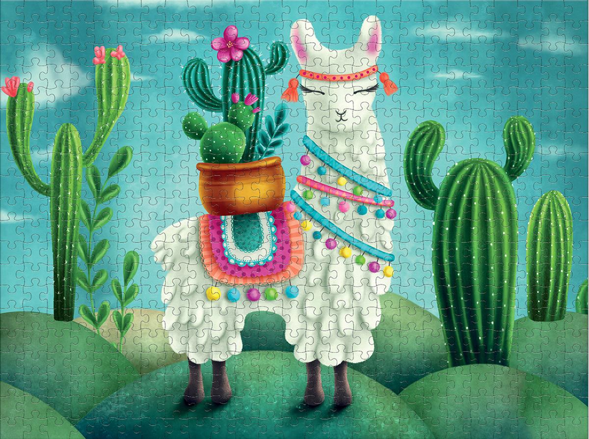 Cactus Llama Animals Jigsaw Puzzle