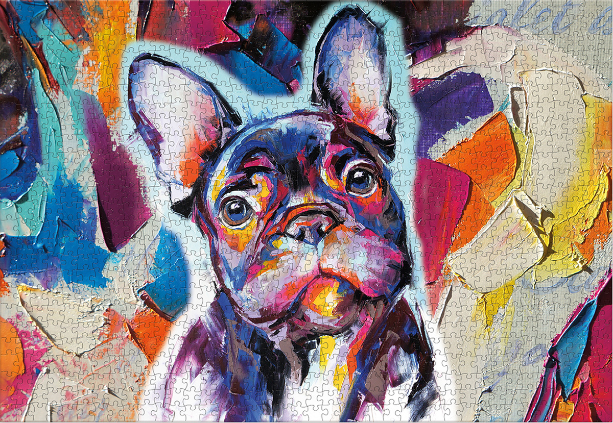 Frenchy Portrait Dogs Jigsaw Puzzle