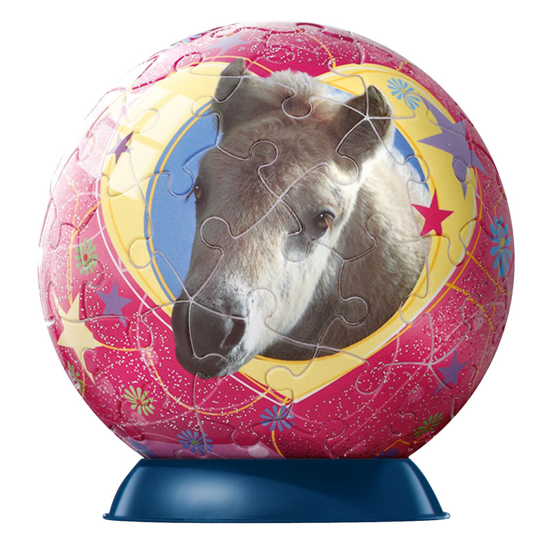 Puzzleball Horses with Glitter - red star Horses Puzzleball