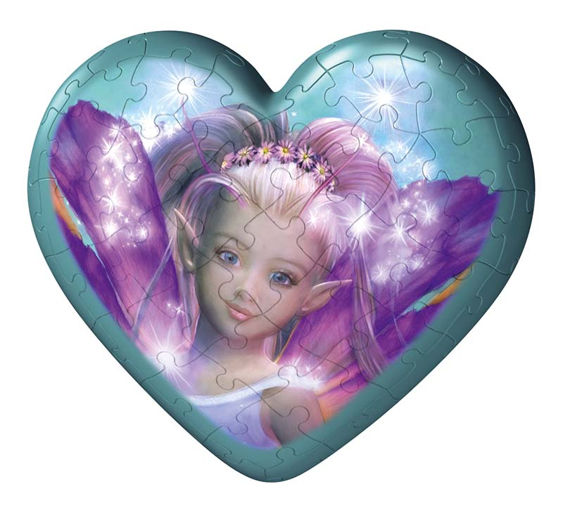 Puzzleball Fairies Hearts - Butterfly Fairy Fairies Jigsaw Puzzle