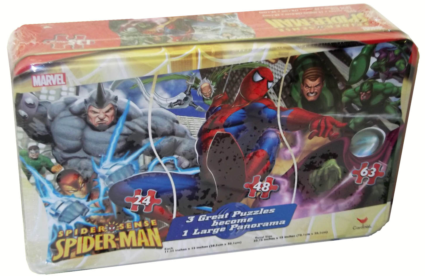 3 in 1 Panoramic - Spider-Sense Cartoons Jigsaw Puzzle
