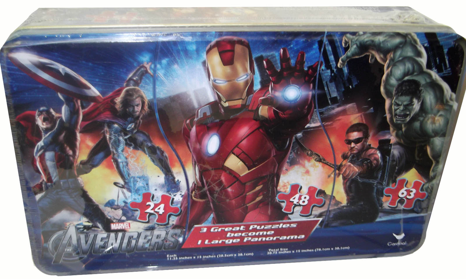 3 in 1 Panoramic - The Avengers Cartoons Jigsaw Puzzle