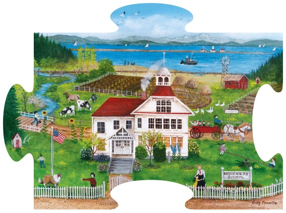 Dungeness School Shaped Puzzle - Scratch and Dent Beach Shaped Puzzle