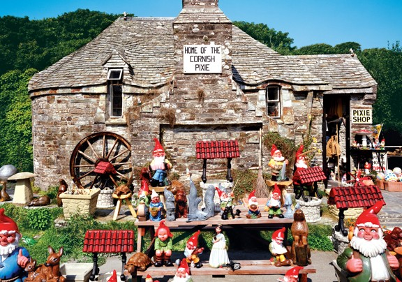 Olde Worldy Pixie Shop in Tintagel, Cornwall, Ireland - Scratch and Dent Everyday Objects Jigsaw Puzzle