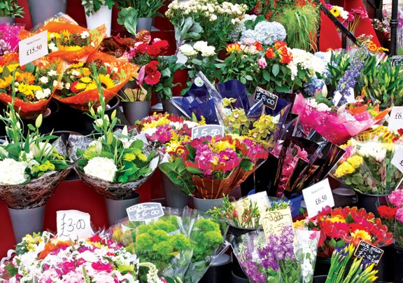 Colorful Market Flowers (Colorluxe) - Scratch and Dent Flowers Jigsaw Puzzle