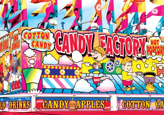 Candy Factory Fairground Concession Stand - Scratch and Dent Cartoons Jigsaw Puzzle
