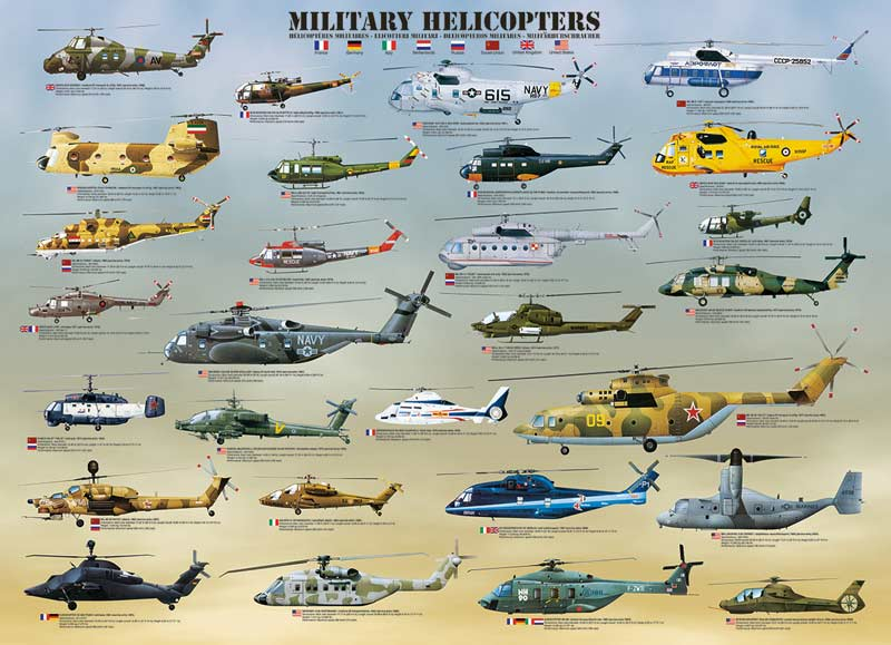 Military Helicopters Planes Jigsaw Puzzle