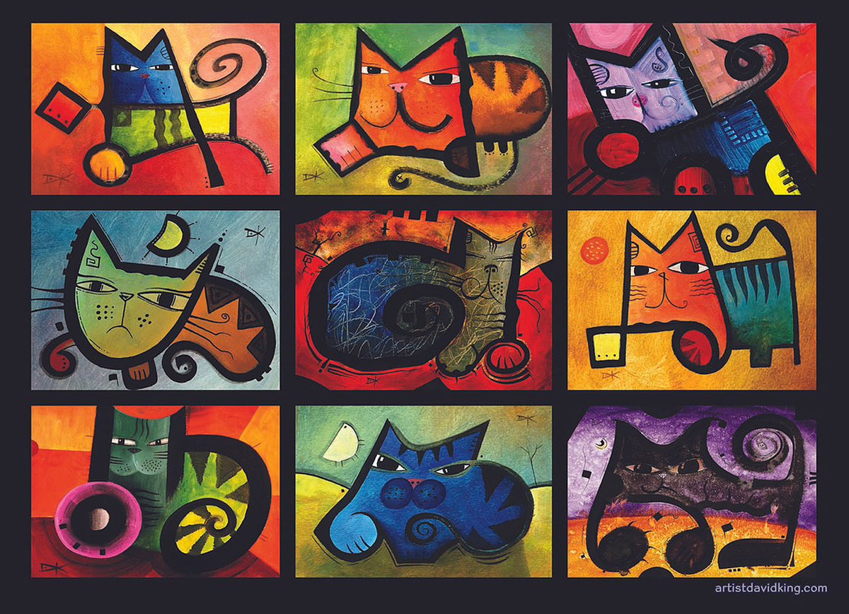 Colorful Cats Cats Jigsaw Puzzle