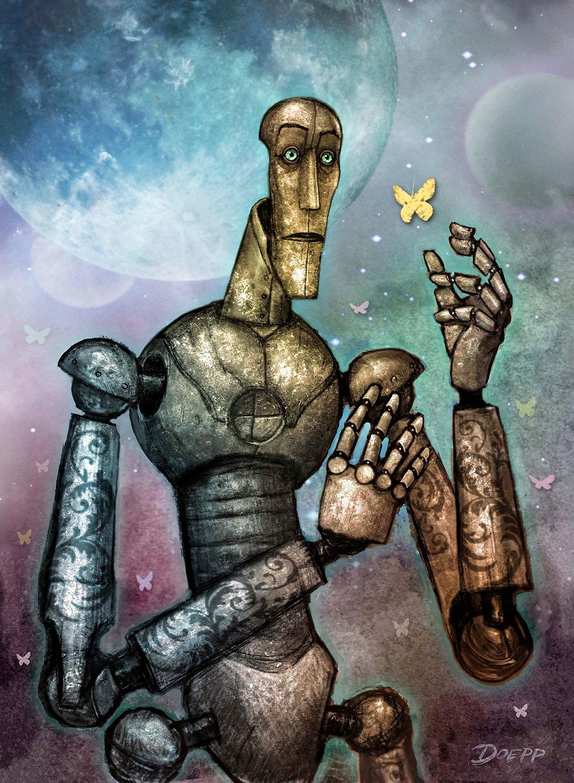 Robot Love Graphics / Illustration Jigsaw Puzzle