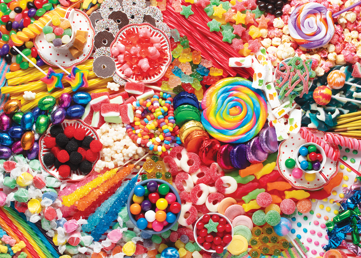 Sweet Satisfaction Food and Drink Jigsaw Puzzle