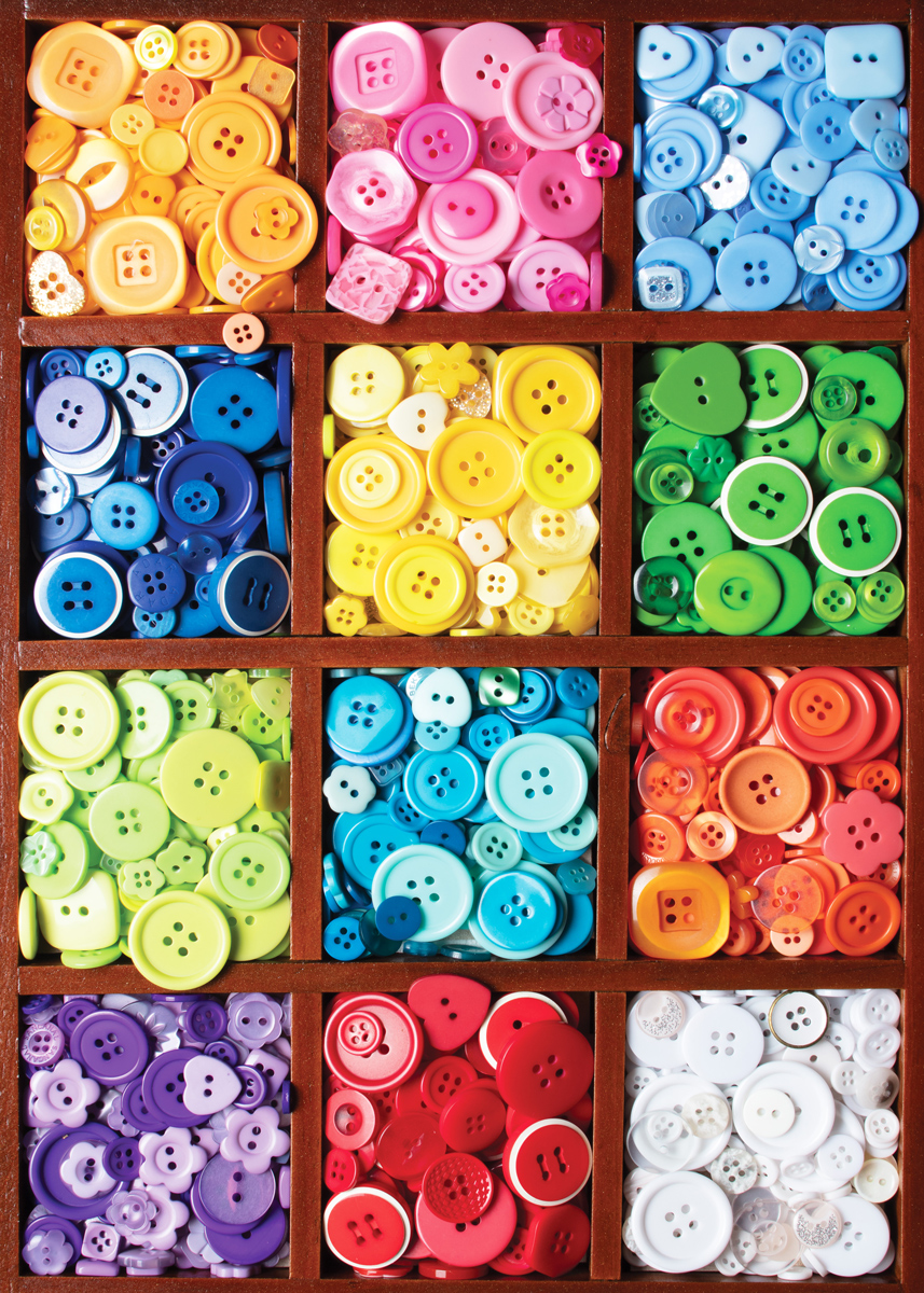 Box of Buttons Everyday Objects Jigsaw Puzzle