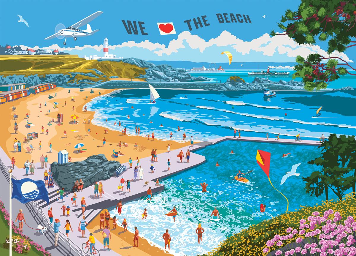 We Love the Beach Beach Jigsaw Puzzle