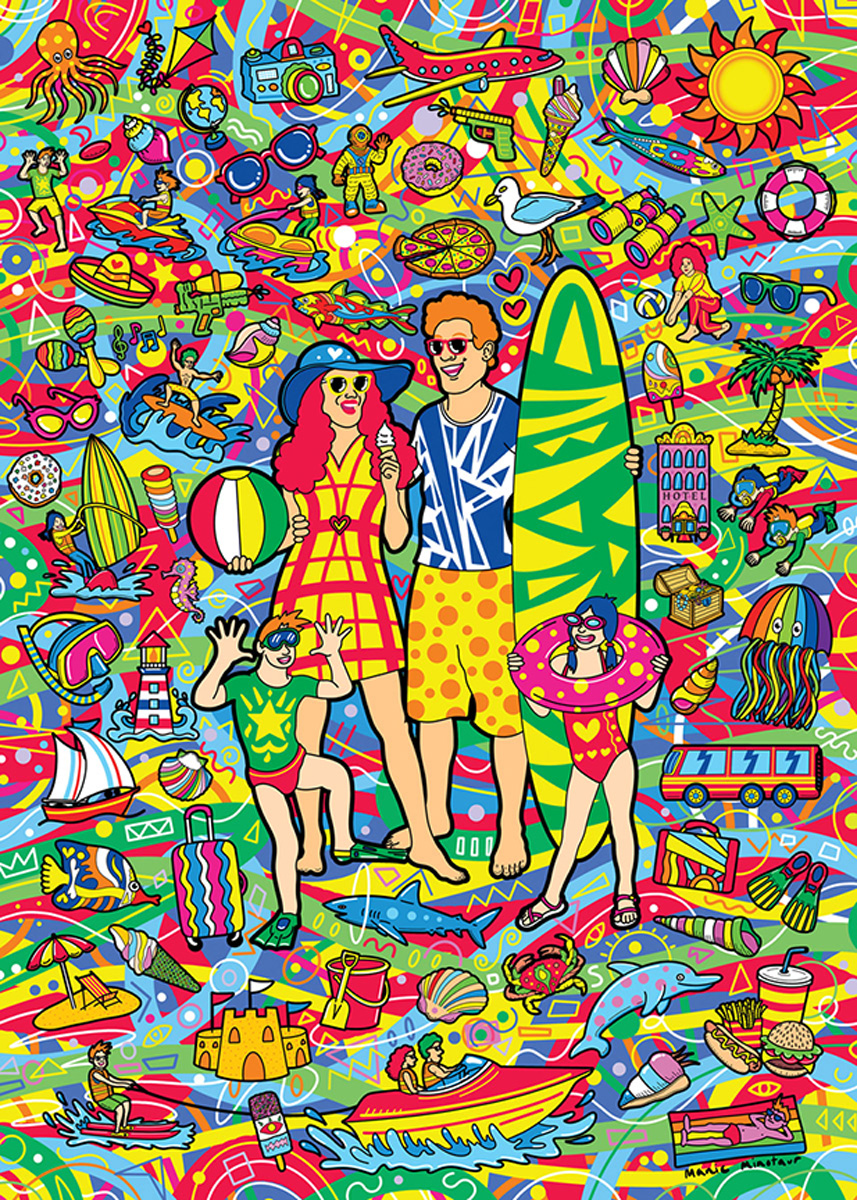Family Vacation - Scratch and Dent Beach Jigsaw Puzzle