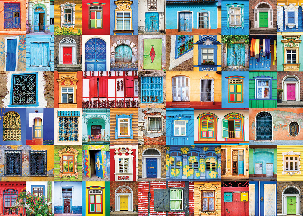 Delightful Doors and Windows Collage Jigsaw Puzzle