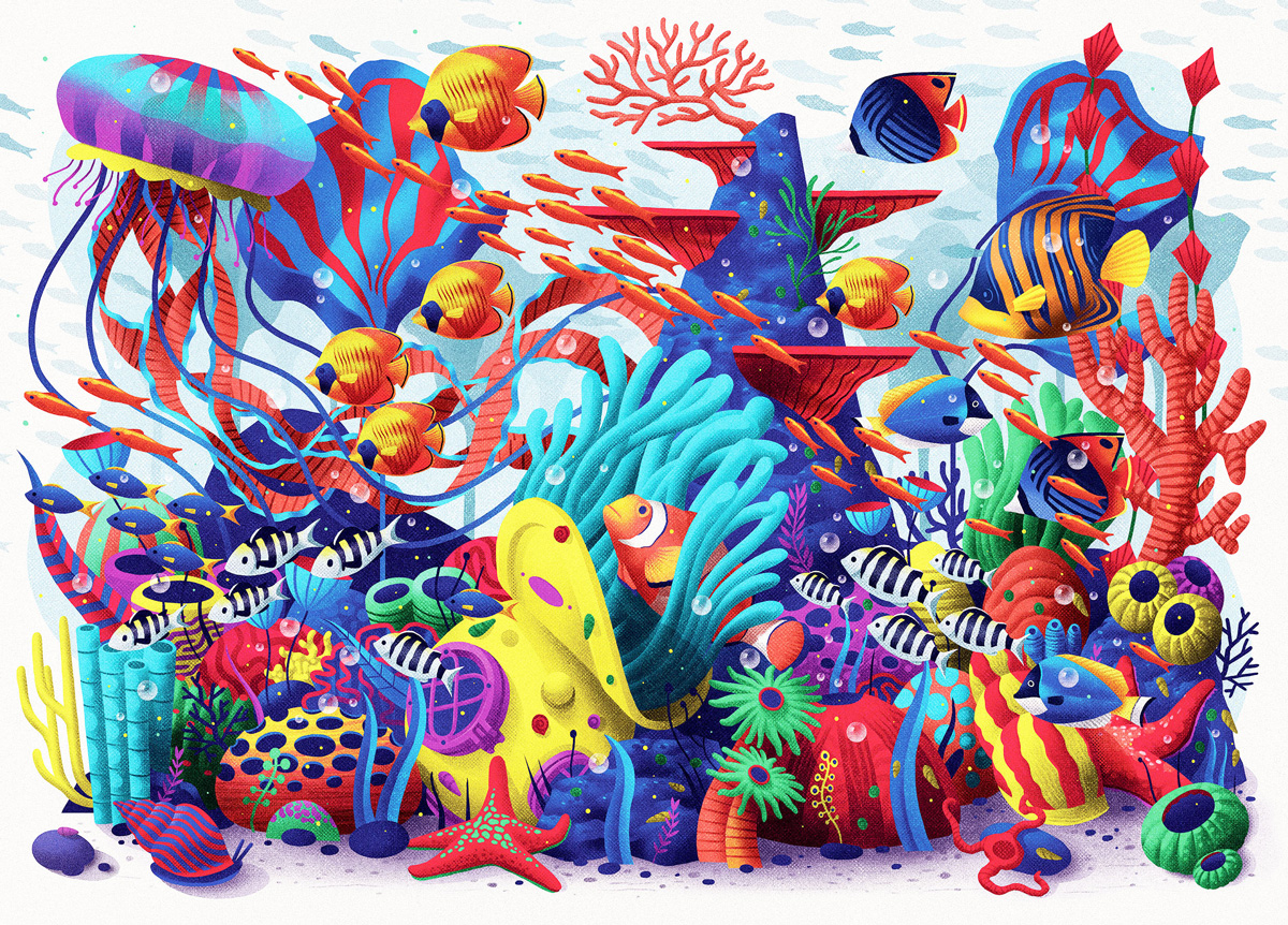 Ocean of Color Under The Sea Jigsaw Puzzle