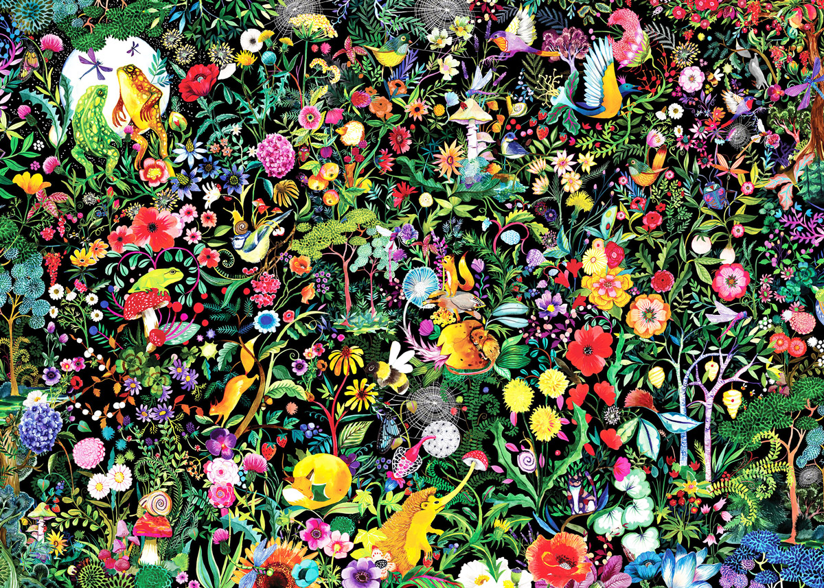 The Colorful Wilds Flowers Jigsaw Puzzle