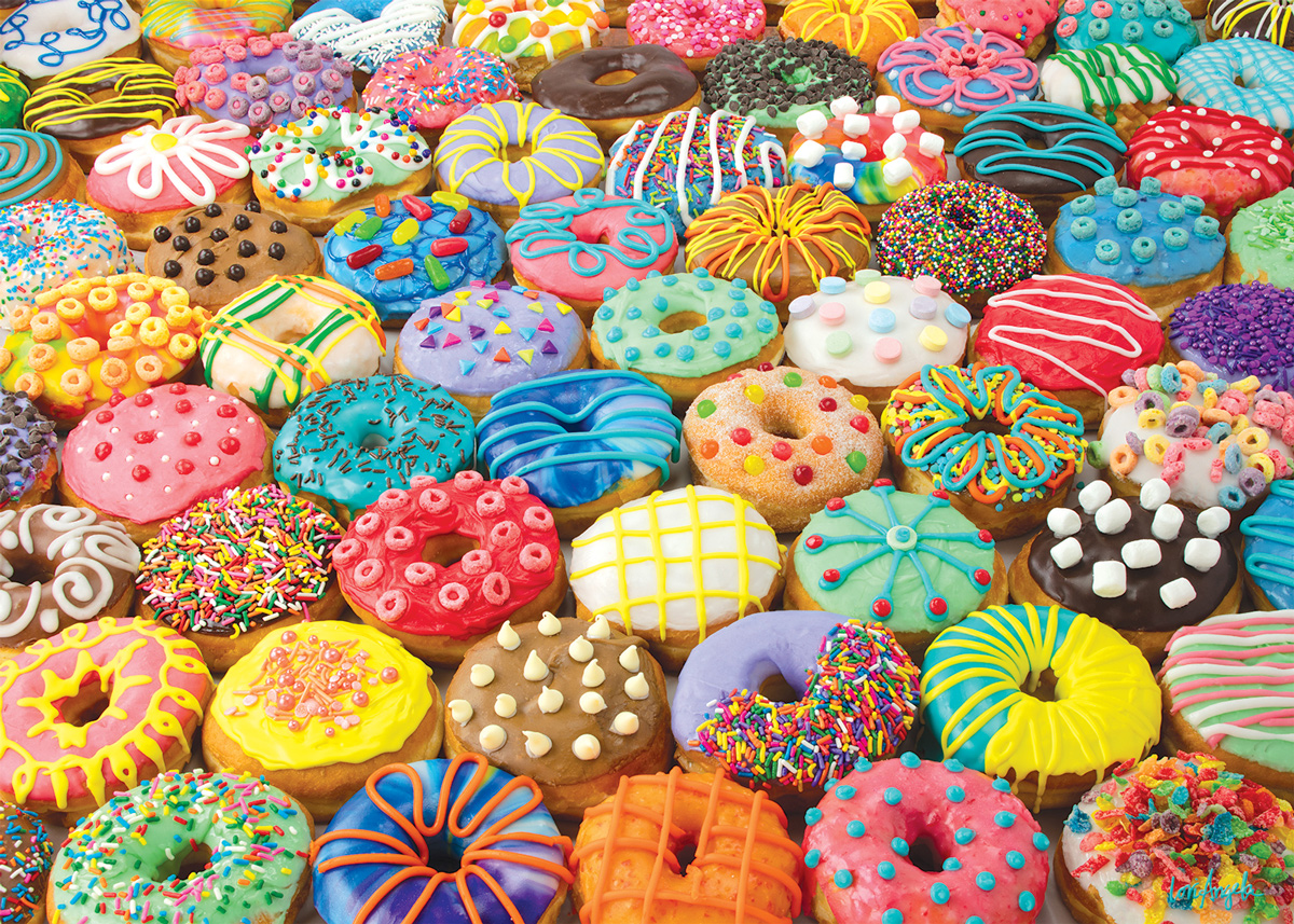 Delicious Difficult Donuts Food and Drink Jigsaw Puzzle