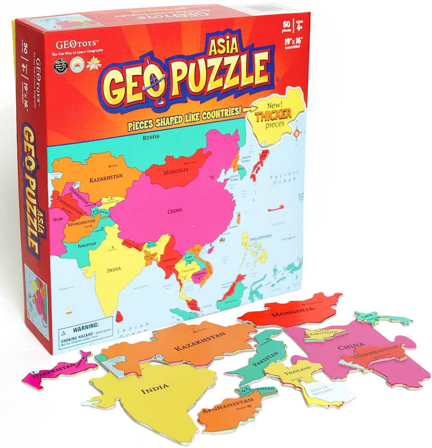 Asia Maps / Geography Jigsaw Puzzle