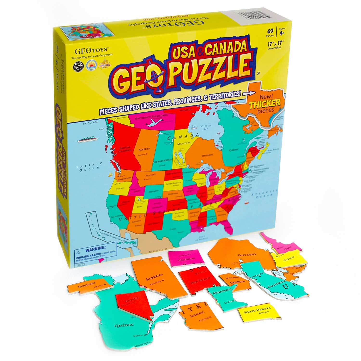 United States & Canada Maps / Geography Jigsaw Puzzle