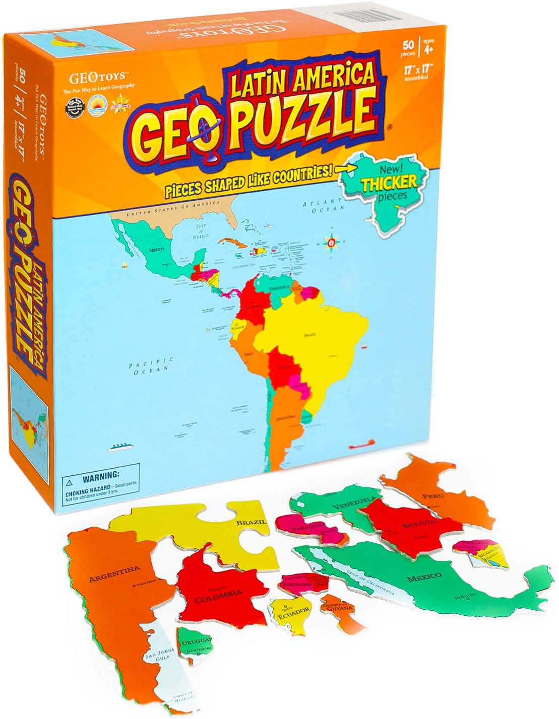 Latin America Maps / Geography Jigsaw Puzzle