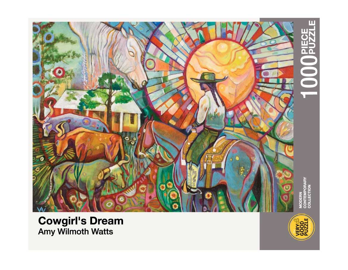 Cowgirl's Dream Countryside Jigsaw Puzzle