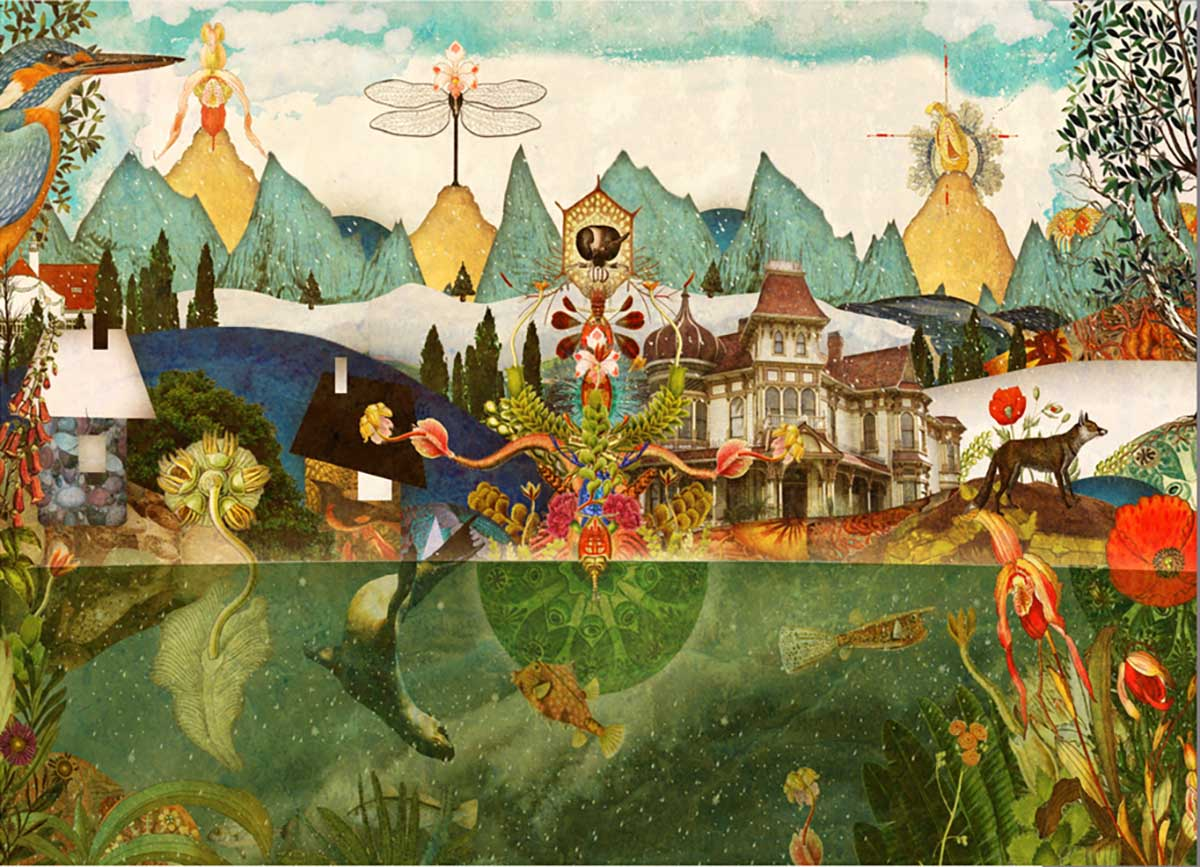 The Remembrance of Gukkenwald (The Peculiar Death of Valerie Marie Osten Chafer) Abstract Jigsaw Puzzle