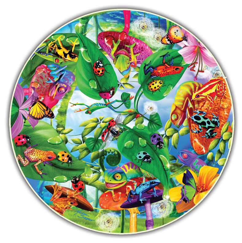 Creepy Critters (Round Table Puzzle) Butterflies and Insects Shaped Puzzle