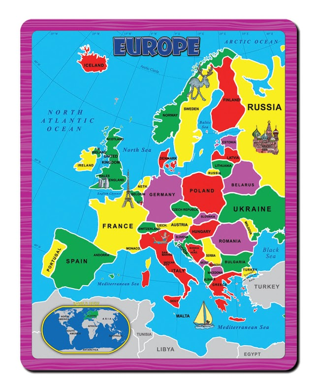 Europe the continent puzzle jigsaw puzzle puzzlewarehouse europe the continent puzzle maps geography jigsaw puzzle gumiabroncs Choice Image