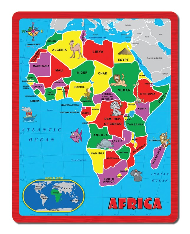 Africa (The Continent Puzzle) Jigsaw Puzzle | PuzzleWarehouse.com