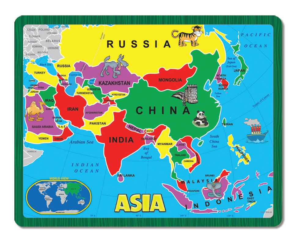 asia the continent puzzle maps geography jigsaw puzzle