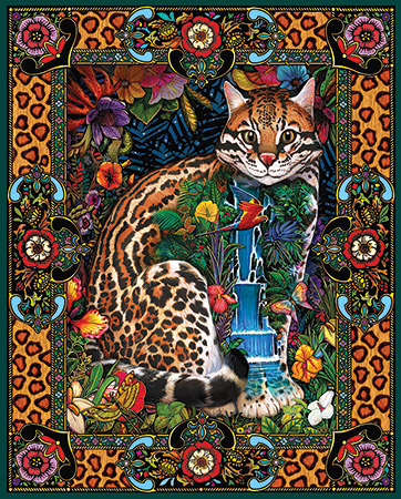 Tropical Cat Cats Jigsaw Puzzle