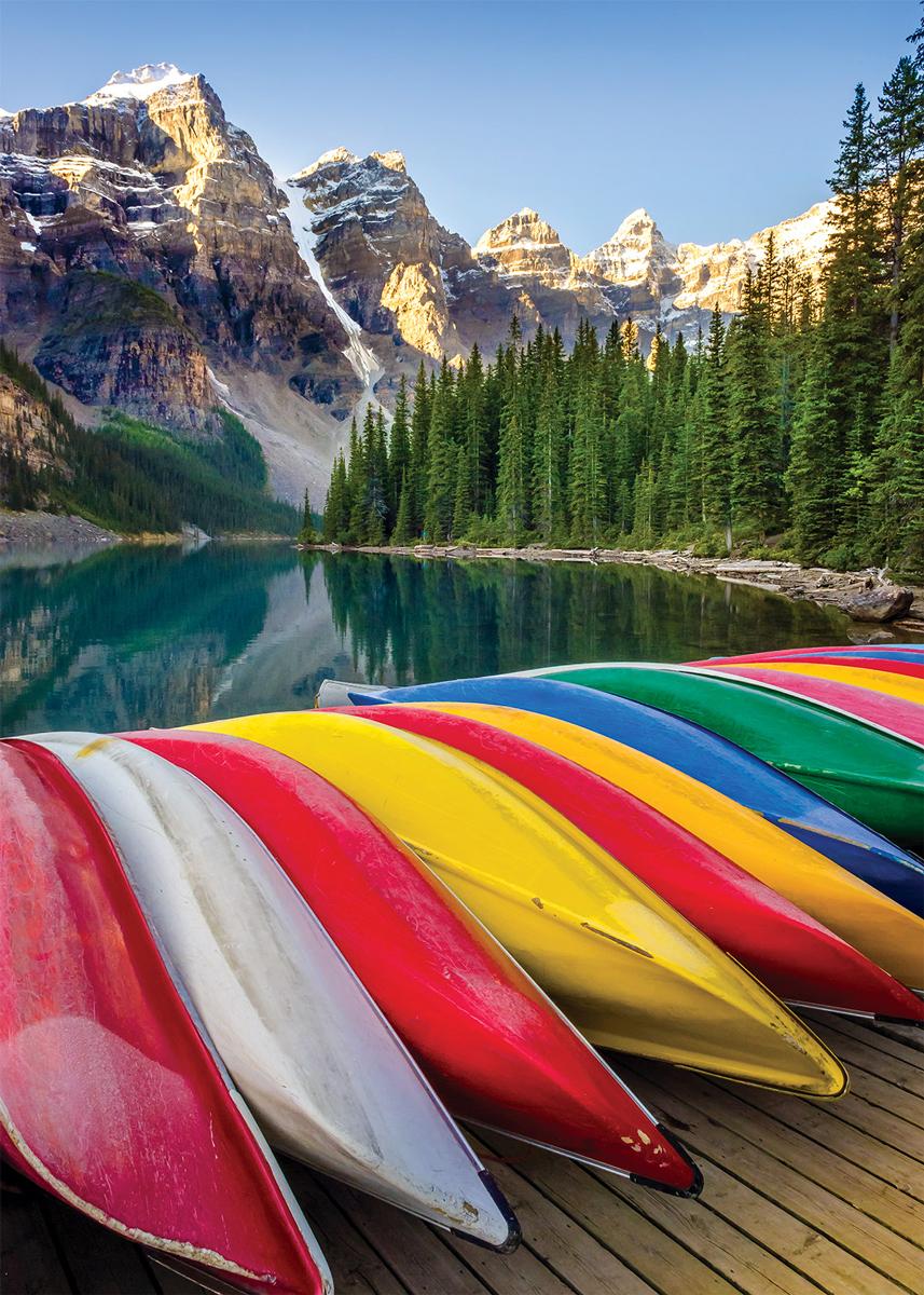 Mountain Lake Boats Boats Jigsaw Puzzle