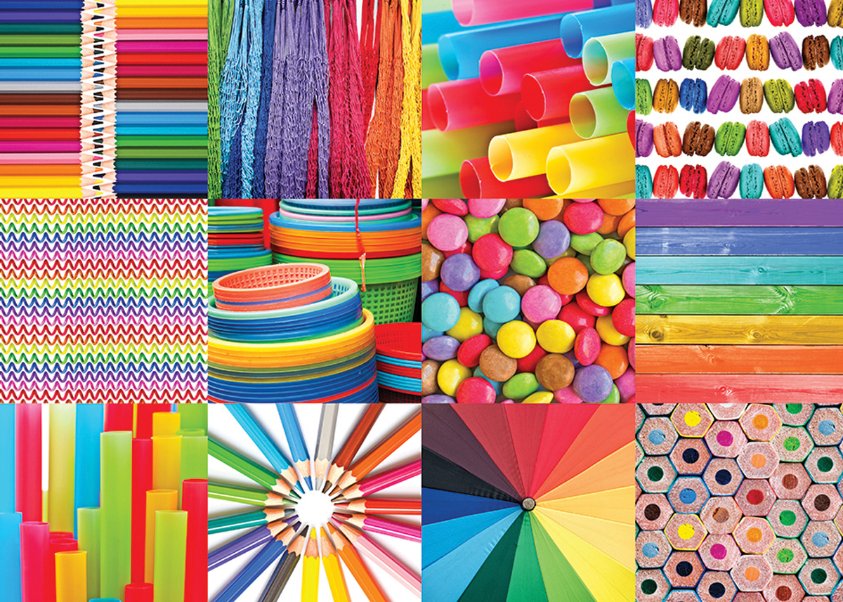 Colorful Collage Collage Jigsaw Puzzle