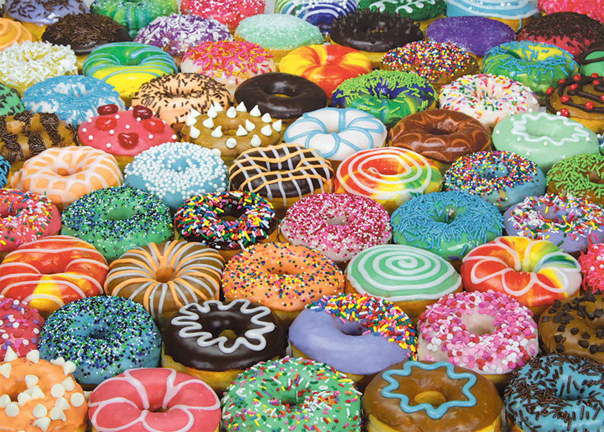 Difficult Donuts - Scratch and Dent Food and Drink Jigsaw Puzzle