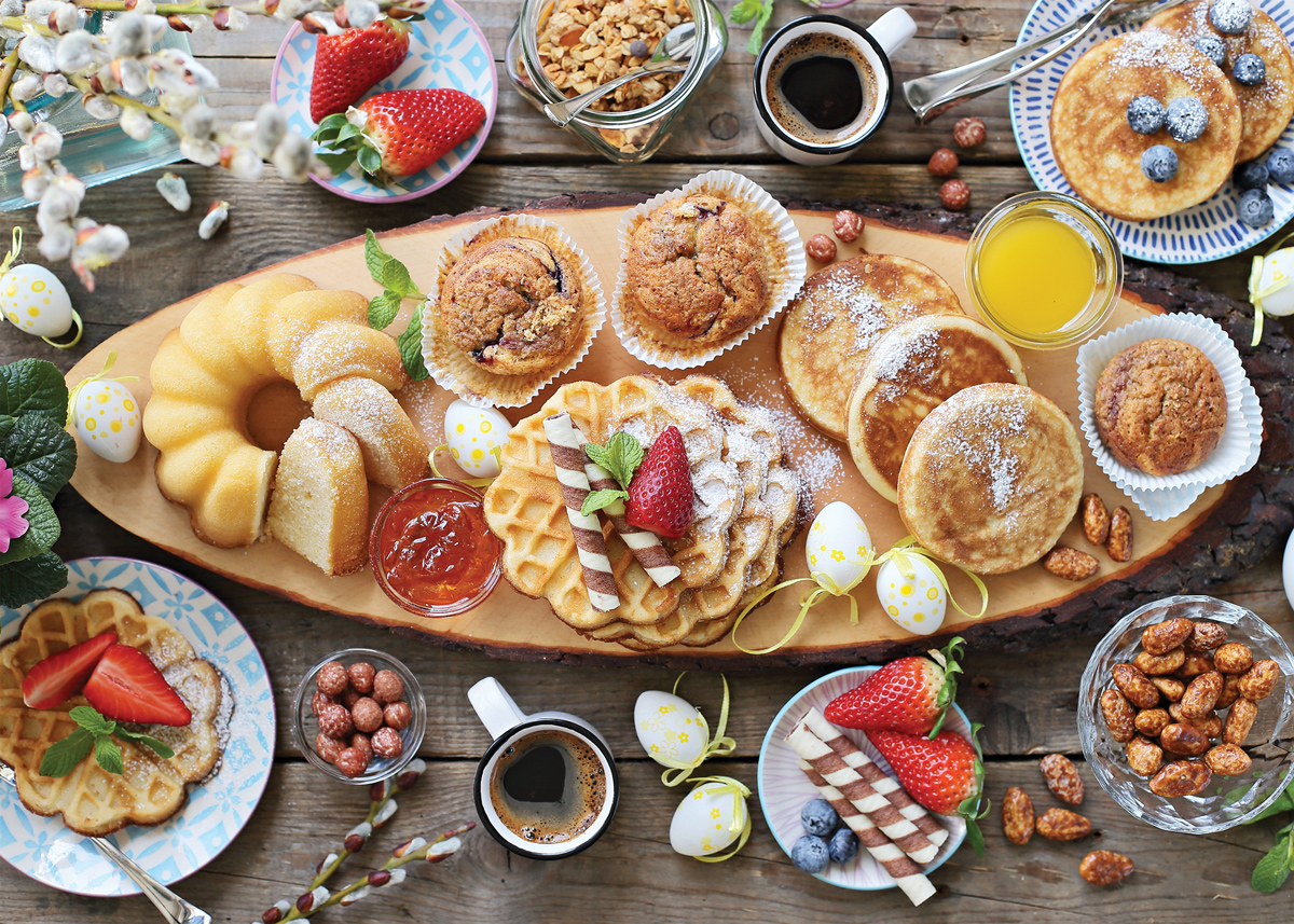 Beautiful Breakfast Food and Drink Jigsaw Puzzle