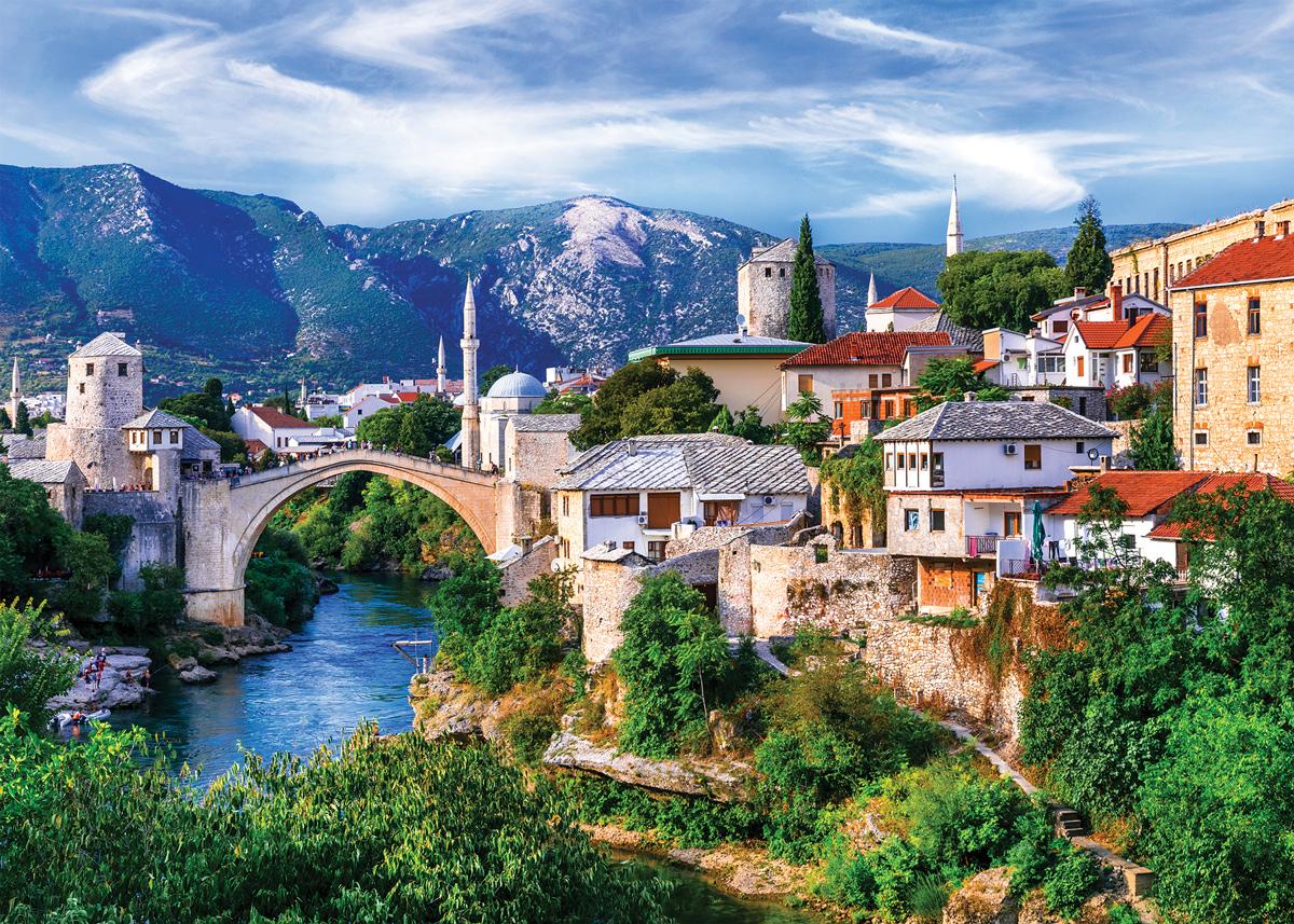 Bridge to Old Europe Landscape Jigsaw Puzzle