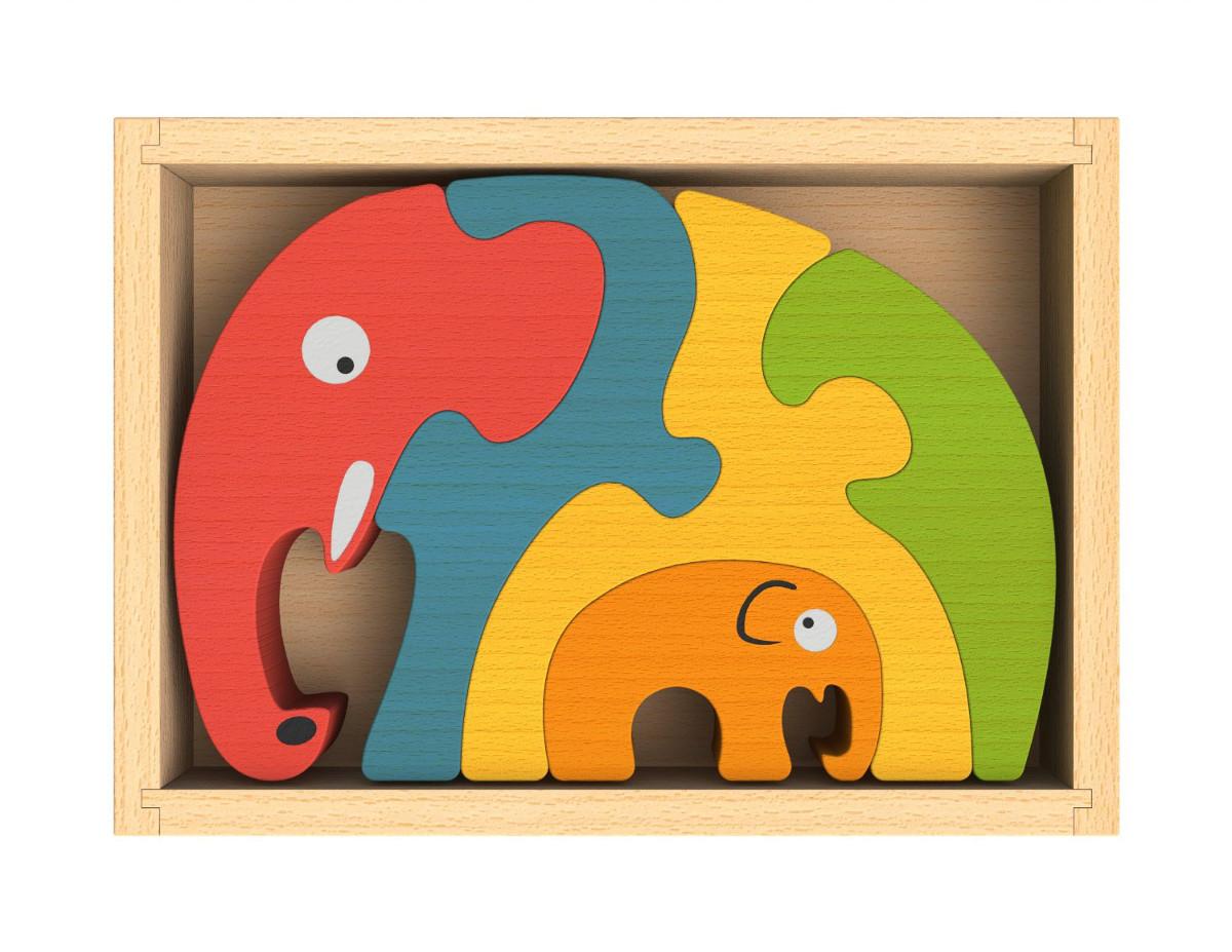 Elephant Family Puzzle Elephants Jigsaw Puzzle
