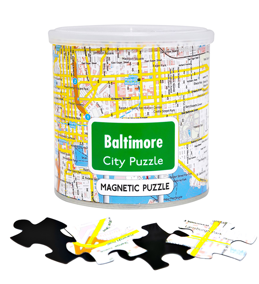 City Magnetic Puzzle Baltimore Cities Jigsaw Puzzle