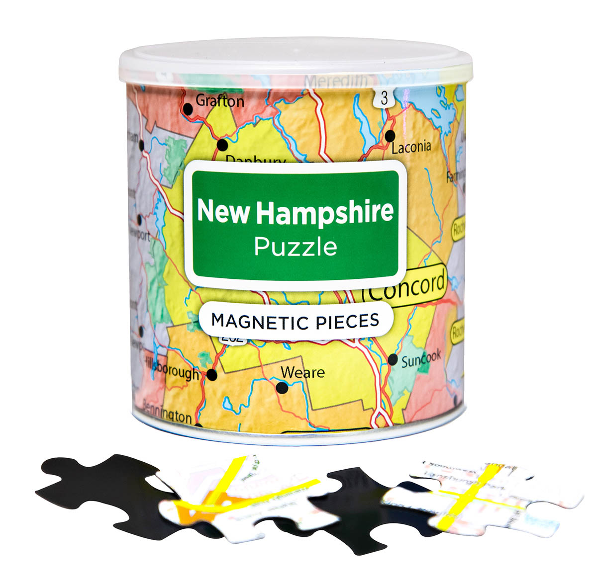 City Magnetic Puzzle New Hampshire Cities Jigsaw Puzzle