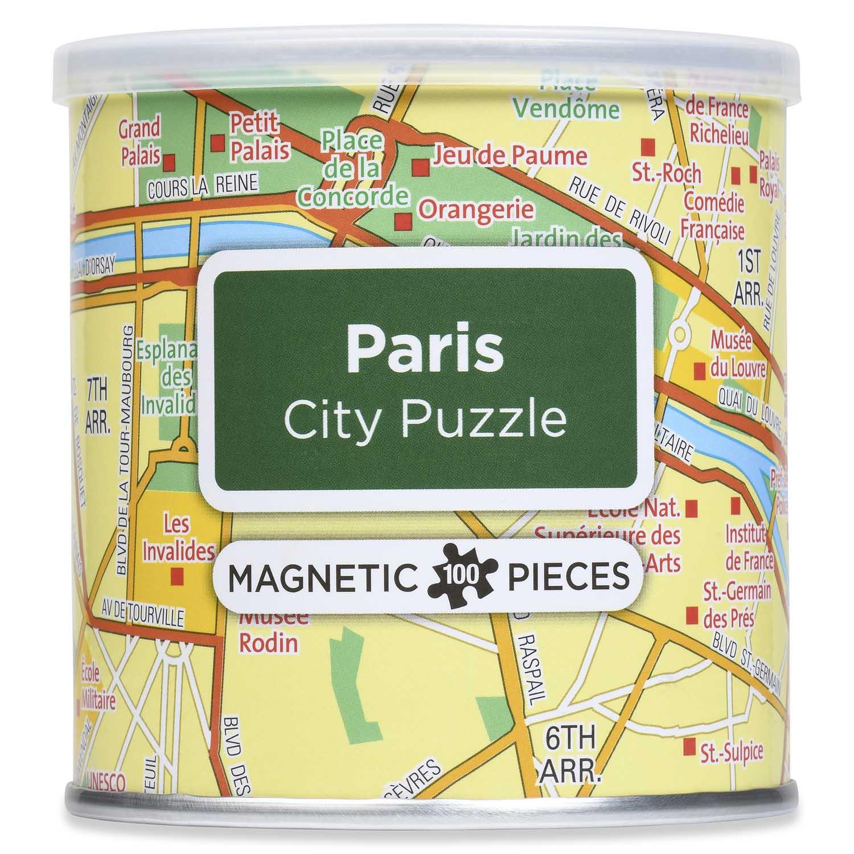 City Magnetic Puzzle Paris Maps / Geography Jigsaw Puzzle