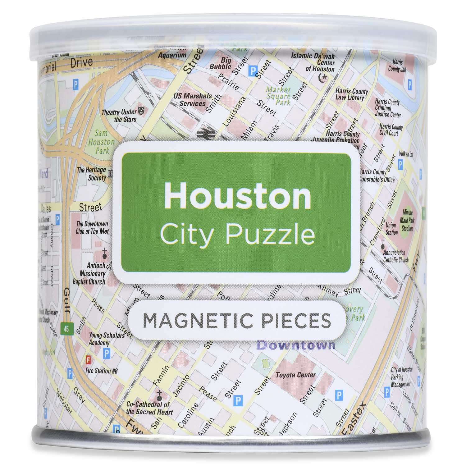 City Magnetic Puzzle Houston Cities Jigsaw Puzzle