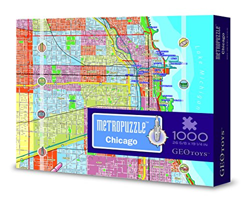 Chicago MetroPuzzle Travel Jigsaw Puzzle