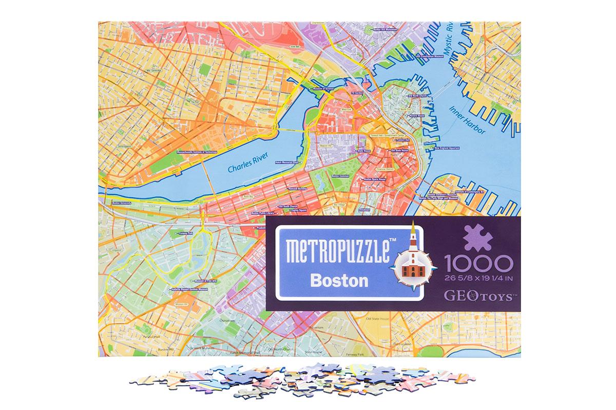 Metropuzzle Boston Travel Jigsaw Puzzle