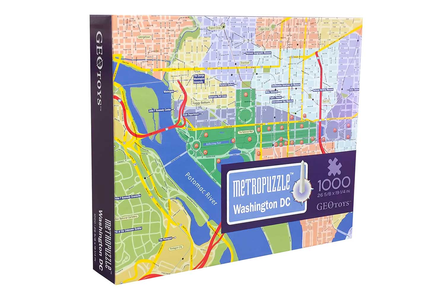 Washington, DC MetroPuzzle Travel Jigsaw Puzzle