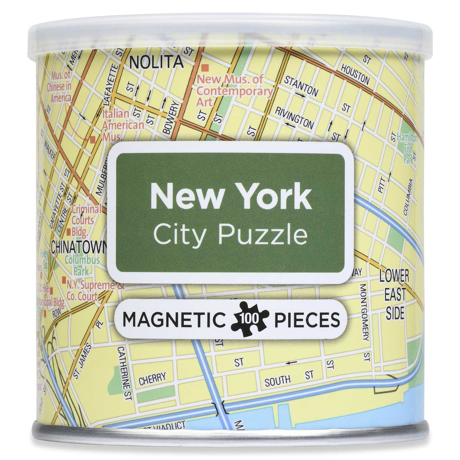 City Magnetic Puzzle New York City Maps / Geography Jigsaw Puzzle