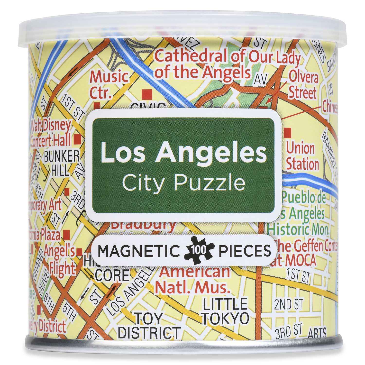 City Magnetic Puzzle Los Angeles Maps / Geography Jigsaw Puzzle